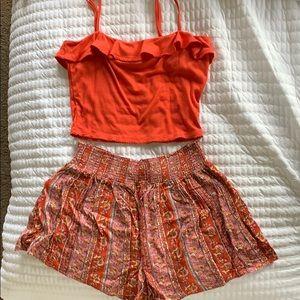 Large Crop Top & Shorts Summer Set